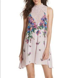 NWT Free People Ecru Combo Dress Size Med